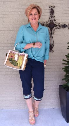 50 Is Not Old | Kuhfs Are A Perfect Accessory | Spring | Sea Foam | Fashion over 40 for the everyday woman