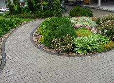betonikivi - Google-haku Sidewalk, Plants, Garden Ideas, Stones, Gardening, Google, Rocks, Side Walkway, Lawn And Garden
