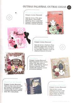 Mini-Álbuns confeccionados por Luciana Warnowski com produtos E&C Company, publicado na revista Álbuns Decorados
