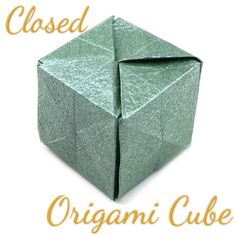 Instructions to learn how to make various kinds of origami cube. Paper Cube, Origami Cube, How To Make Origami, Handmade Flowers, Modern Lighting, Bedroom, Pattern, Diy, Color