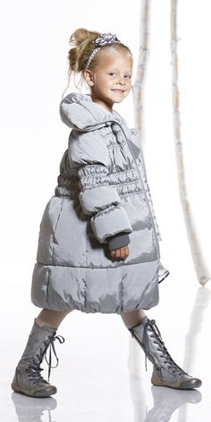Cute girls winter jacket from http://www.pompdelux.com