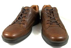 Ecco Shoes Mens Brown Leather Lace Up Oxfords Size U.S. 11 11.5 EU 45 #ECCO #Oxfords