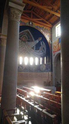 Morning sunlight in the sanctuary, Church of the Transfiguration