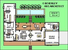 SINGLE STOREY 4 BEDROOM HOUSE PLANS | DESIGNS WITH POOL FOR SOUTH AFRICA | SA