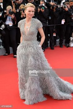 Naomi Watts at the 2015 Cannes filmfestival. Elie Saab Couture