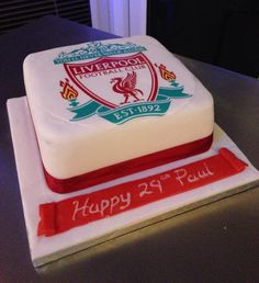 Liverpool FC birthday cake