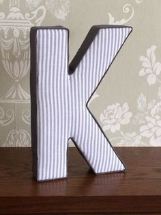Grey unisex, neutral nursery decor fabric covered letters, boys, girls bedroom wall decoration, door plaque, custom, personalised gift ideas by AlphabetCraft on Etsy