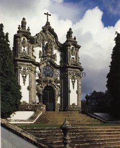 Iglesia de Falperra, cerca de Bom Jesus de Braga, dedicada a santa María Magdalena. Obra de André Soares, 1753-175... $45