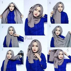 PINTEREST: @MUSKAZJAHAN - PINNED BY @MUSKAZJAHAN - Classic Hijab Tutorial Wi…