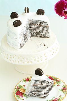 Oreo Mille Crepe Cake - Eugenie Kitchen  #eugeniekitchencrafty