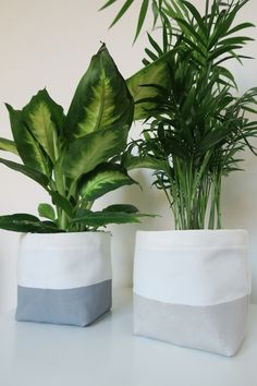 Fabric planters Diy Jardin, Plant Bags, Condo Decorating, Diy Planters, Plant Holders, Plant Decor, Diy Crafts To Sell, Decoration, Cool Things To Make