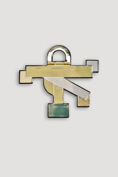 Artist/Designer: Ettore Sottsass b. 1917 Innsbruck, Austria - 2007 Milan, Italy Title: San Marco Brooch Medium: Handmade cloisonné Dimensions: Manufacturer: Acme Studio from the Memphis Designers for