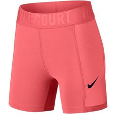 Nike Women's Court Power 5 Inch Tennis Short in Lava Glow (815 CZK) ❤ liked on Polyvore featuring activewear, activewear shorts, nike, nike sportswear and nike activewear