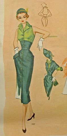 modes royale dress 1085, spr sum 1952 by carbonated, via Flickr