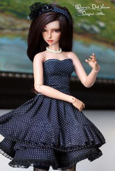 2a34f5ab1f8 1 3 BJD Doll OOAK SD Dotted Romance Dress Set for FEEPLE60 and Size Around  58