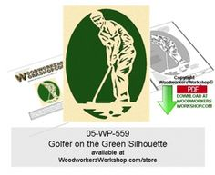 Golfing requires patience and plenty of practice, as well as knowing the lay of the land. Any golfing enthusiast would enjoy receiving a gift like this golfer scroll saw silhouette. This scroll saw silhouette pattern is a good woodworking plan for beginners to practice cutting tight spots and quick turns.  05-WP-559 - Golfer on the Green Silhouette Downloadable Scrollsawing Pattern PDF