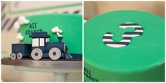 Train Birthday Cake // Train Party Ideas // Paige Simple // www.paigesimple.com