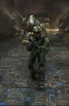 View an image titled 'Arbiter & Master Chief Art' in our Halo 2 art gallery featuring official character designs, concept art, and promo pictures. Halo 2, Odst Halo, Camilla Luddington Tomb Raider, Halo Master Chief, Marshmello Wallpapers, Craig Mullins, Design Spartan, Halo Series, Science Fiction