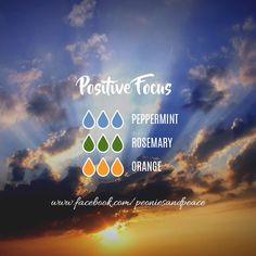 Positive Focus diffuser blend great for workouts. studying, work or anytime you need some uplifting focus Essential Oils Guide, Essential Oils Cleaning, Essential Oil Scents, Essential Oil Diffuser Blends, Essential Oil Uses, Doterra Essential Oils, Young Living Essential Oils, Essential Oil Combinations, Aromatherapy Oils