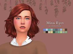 Nolan Sims here. My sister really loved Sims 2 and it's CC. Now that she's started playing Sims I wanted to bring her favorite eye set to it as well! So, I converted the eye textures by Mina M. from You can check out the original set by Mina. Sims 4 Teen, Sims Four, Sims 4 Mm Cc, Sims Baby, Maxis, Sims 4 Stories, Play Sims 4, Pelo Sims, Sims 4 Cc Skin