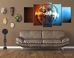 Naruto Ball 5 Piece Canvas