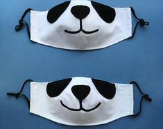 Couple of Bunnies Face Masks with Filter Pockets - Set of 2 Tiger Face Mask, Animal Face Mask, Fox Face, Bunny Face, Animal Faces, Easy Face Masks, Face Masks For Kids, Diy Face Mask, Pocket Pattern