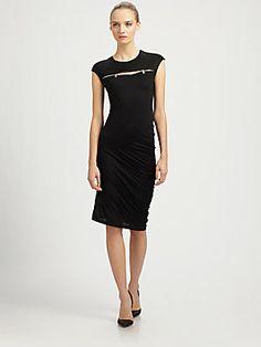 McQ Alexander McQueen Zipper-Trimmed Jersey Dress