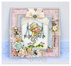Elise of Paper Love Affair. Love the ribbon this one. Journaling, Lily Of The Valley, Copics, Card Tags, Digital Stamps, Cool Cards, Creative Cards, Paper Design, Valley Girls