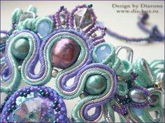 Soutache--love the color combinations here