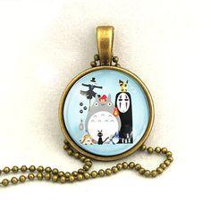 10% SALE Necklace Japanese Cartoon Collection Totoro Spirited Away Miyazaki Art Pendant Gift