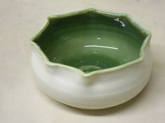 Porcelain serving bowl by Faith Kaiser