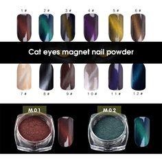 24Box 3D Effect Cat Eye Magnet Magic Mirror Powder Dust UV Gel Polish Nail Art Glitter Pigment DIY Manicure Tools Wholesale