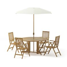 Buy Garden Table Set Model by CGAxis on Garden table set model with a large wooden table, umbrella and four wooden chairs.