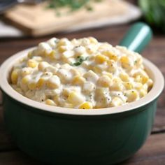 This creamed corn side dish is the perfect balance of sweetness and spice. Creamy, buttery, super sweet corn is a delicious addition to your holiday table or Sunday supper. Don't skimp on the fat, just Thanksgiving Recipes, Holiday Recipes, Dinner Recipes, Dinner Ideas, Restaurant Recipes, Summer Recipes, Best Pancake Recipe Ever, Creamed Corn Recipes, Fluffy Waffles