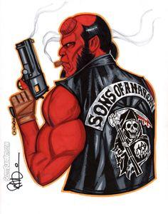 Hellboy Samcro by scottblairart on @DeviantArt