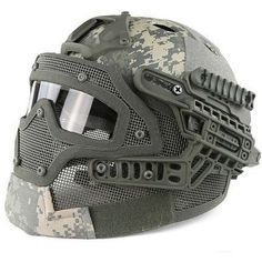 Type: Helmet Age: >14 Years Season: Universal Sport: Other Model Number: helmet + full face mask Brand Name:Zippmart SINAIRSOFT Applicable People: Men Material: ABS Style: Full-covered Head Circumfere