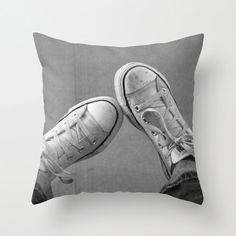 Items similar to Decorative Photo Throw Pillow Cover Wallflower Converse Sneakers Awkward Teen Home Decor Gift for Him Gift for Her Black White Grey on Etsy Dream Bedroom, Girls Bedroom, Bedroom Ideas, Black And White Sneakers, Black White, Throw Pillow Covers, Throw Pillows, Tumblr Bedroom, Cute Room Decor