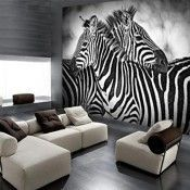 Vlies fotobehang Serengeti Vlies fotobehang Sereng #fotobehang #Serengeti #Vlies Zebra Print, Animal Print Rug, Zebra Decor, Small Apartment Interior, Apartment Ideas, Photo Mural, Photo Wall, African Home Decor, White Zebra