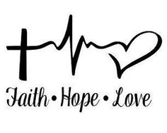 Faith Hope Love Custom Window Decal, Tumbler Decal, Laptop Decal, Car Decal, Faith Hope Love Gift, DIY Custom Decal