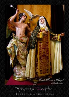 Saint Teresa of Avila Religious Images, Religious Art, Ste Therese, Saint Teresa Of Avila, Madonna, Our Lady Of Sorrows, Religious Paintings, Biblical Art, Spirited Art