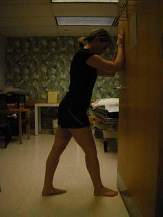 Hamstring Stretches: #4 Against the Wall