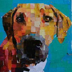 "#rhodesian #ridgeback #Collage on Canvas 20 x 20"". 2014 mydogcollage.com #rhodesianridgeback"
