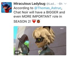 Ooh hopefully!! I definitely love the whole girl power thing zag has going on but I'd love to hear more about chat/adrien too!! :)
