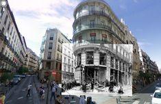 Madrid hace no tanto: ventanas a la guerra en Google Street View. Una serie de montajes fotográficos de Sebastian Maharg convierte vistas actuales de las calles de Madrid en evocadores marcos de un pasado dramático