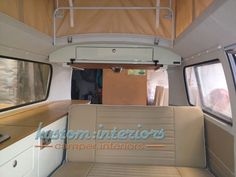 « Back to album list Martin & Sally's Bay window This little camper came a long way for its interior refurb. Sally and Martin prepared the shell, putting in the flooring, upholstery and head lining, ready for us to complete the interior.