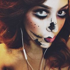 Zombie/dead doll Halloween makeup inspiration!     .@lauracoronado_mua | So I'm bored . & when im bored i do stuff like this   #inspiredby : The ...