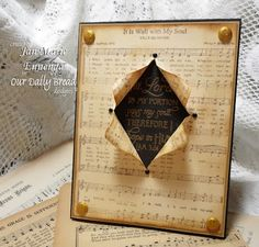 """Our Daily Bread Designs Shining the Light Challenge(ODBDSLC124)  Something Musical """"It is well with my Soul,"""" """"Scripture Collection 5"""""""
