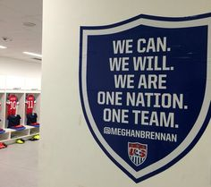 U.S. Men's Soccer Team uses Digital Producer Meghan Brennan's inspirational quote in locker room