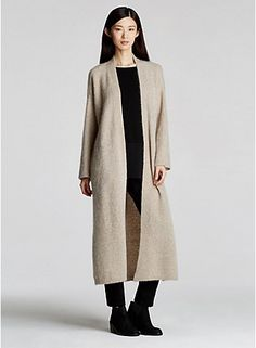 Here it is as its shown online.  Love the piece, but mohair?  It sheds!  Also, looks better when styled differently.