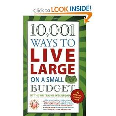 10,001 Ways to Live Large on a Small Budget --- http://www.amazon.com/Ways-Live-Large-Small-Budget/dp/160239704X/?tag=httpvlmarketi-20